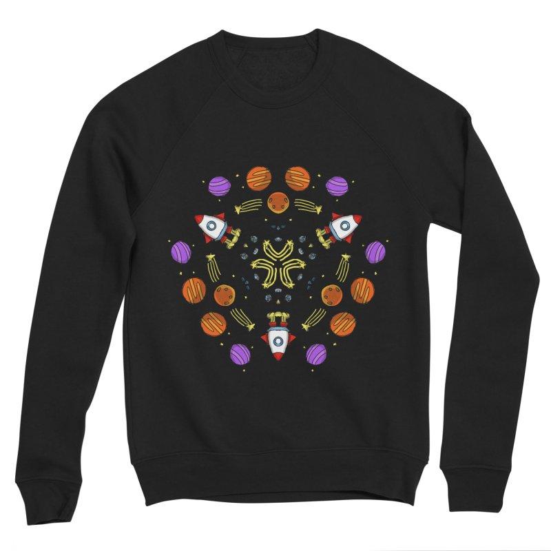 Symmetric Space Men's Sponge Fleece Sweatshirt by Colmena Ink's Shop