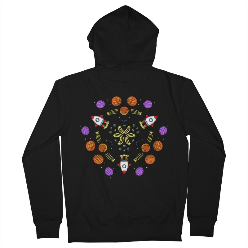 Symmetric Space Men's French Terry Zip-Up Hoody by Colmena Ink's Shop