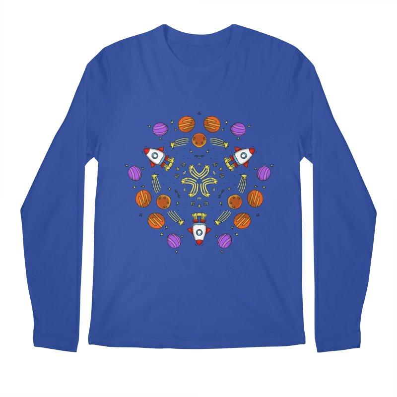 Symmetric Space Men's Regular Longsleeve T-Shirt by Colmena Ink's Shop