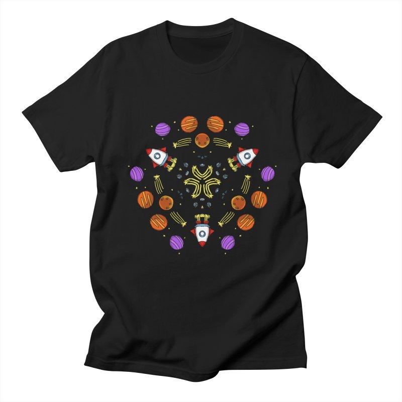 Symmetric Space Men's Regular T-Shirt by Colmena Ink's Shop