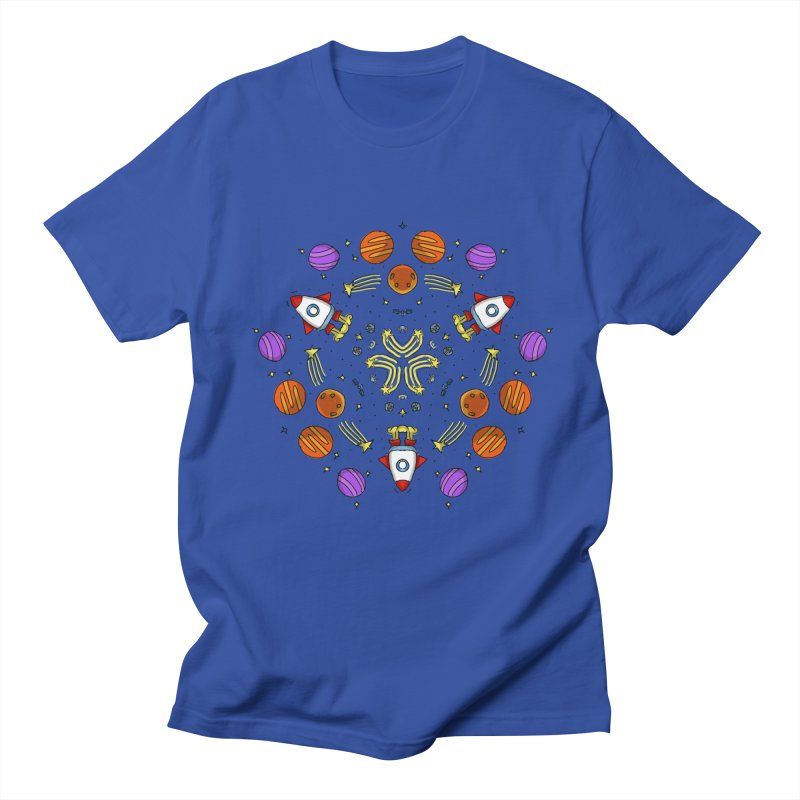 Symmetric Space Men's Regular T-Shirt by Colmena Ink's Shop