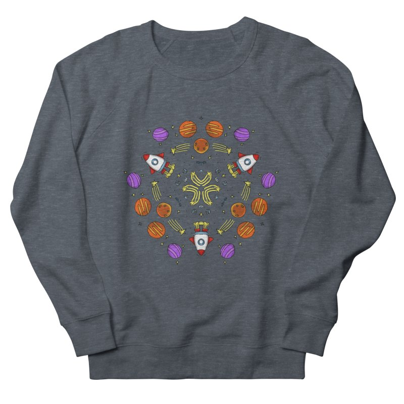 Symmetric Space Women's French Terry Sweatshirt by Colmena Ink's Shop