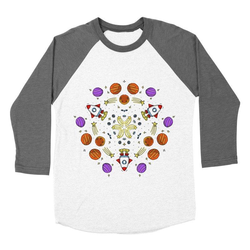 Symmetric Space Women's Baseball Triblend Longsleeve T-Shirt by Colmena Ink's Shop