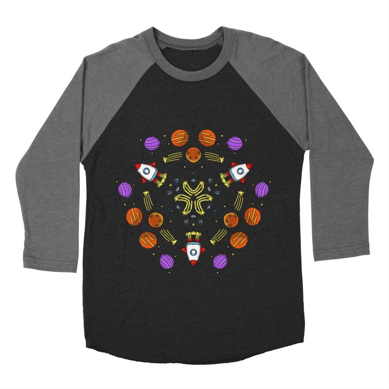 Symmetric Space Men's Baseball Triblend Longsleeve T-Shirt by Colmena Ink's Shop