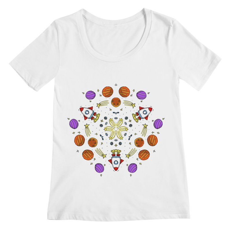 Symmetric Space Women's Regular Scoop Neck by Colmena Ink's Shop