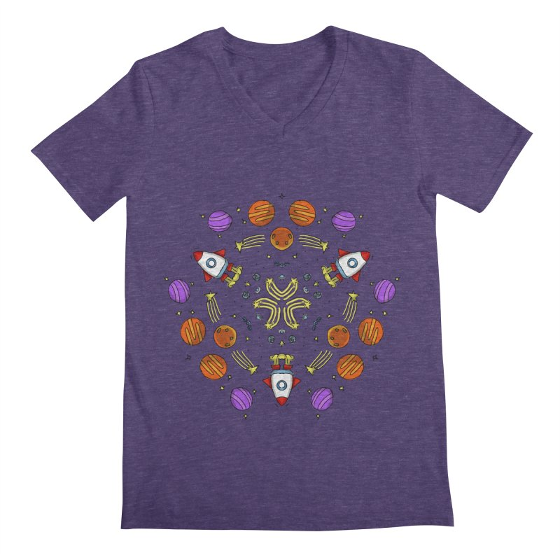 Symmetric Space Men's Regular V-Neck by Colmena Ink's Shop
