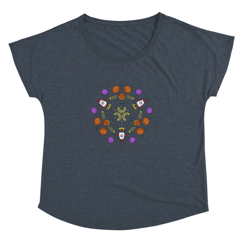 Symmetric Space Women's Dolman Scoop Neck by Colmena Ink's Shop