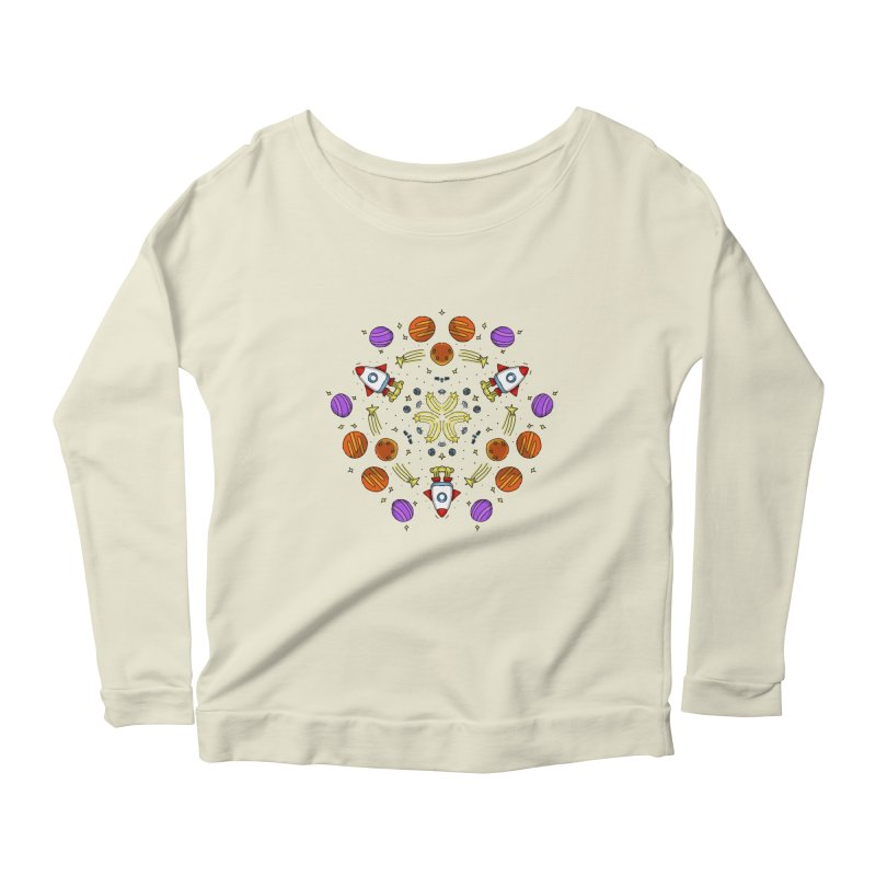 Symmetric Space Women's Scoop Neck Longsleeve T-Shirt by Colmena Ink's Shop