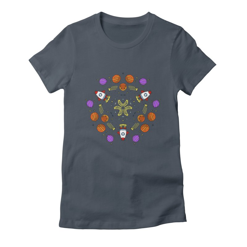Symmetric Space Women's Fitted T-Shirt by Colmena Ink's Shop