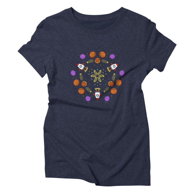 Symmetric Space Women's Triblend T-Shirt by Colmena Ink's Shop