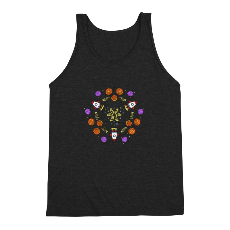 Symmetric Space Men's Triblend Tank by Colmena Ink's Shop