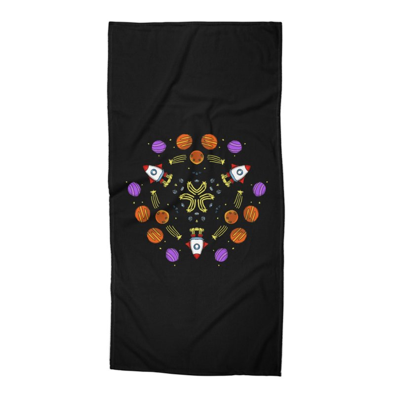 Symmetric Space Accessories Beach Towel by Colmena Ink's Shop