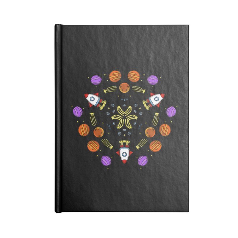 Symmetric Space Accessories Lined Journal Notebook by Colmena Ink's Shop