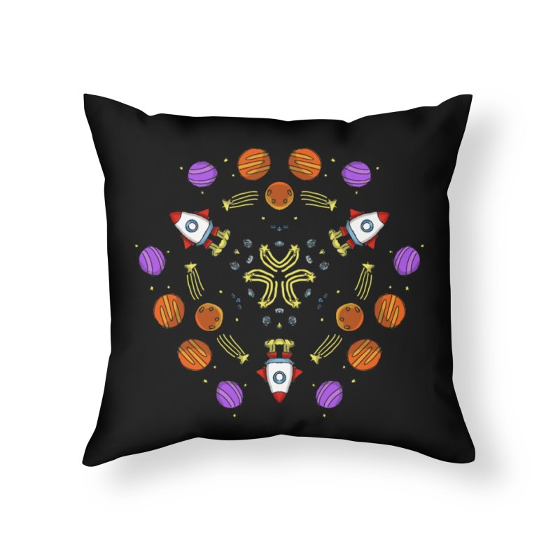 Symmetric Space Home Throw Pillow by Colmena Ink's Shop