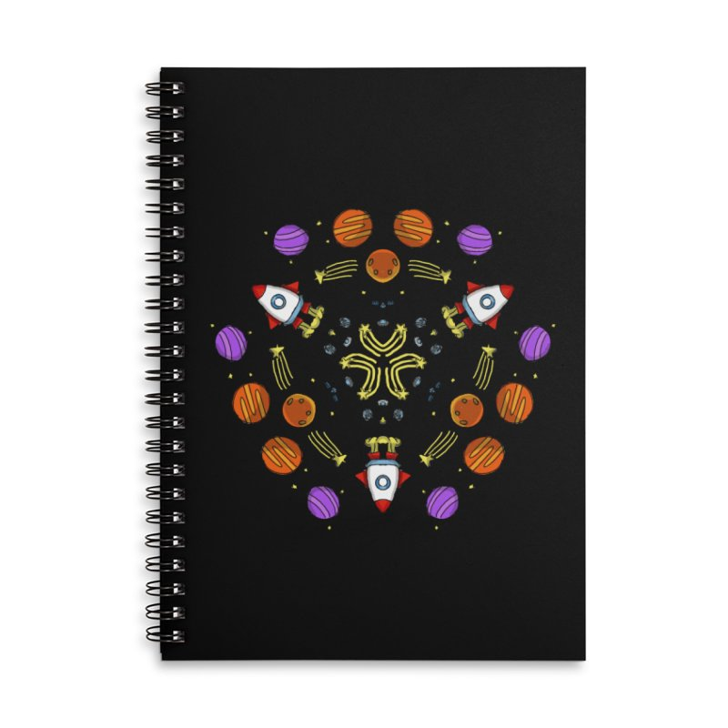 Symmetric Space Accessories Lined Spiral Notebook by Colmena Ink's Shop