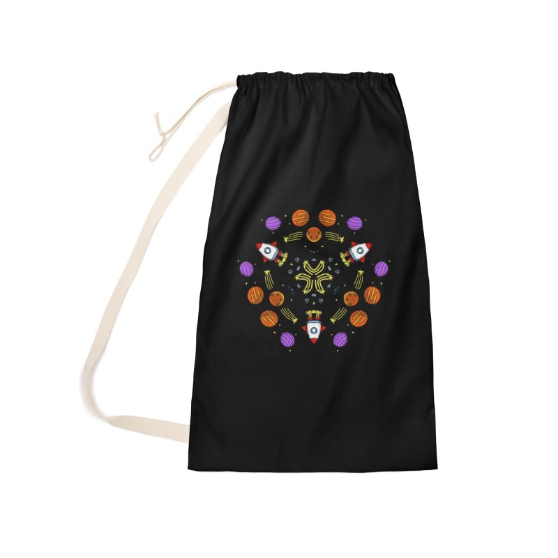 Symmetric Space Accessories Laundry Bag Bag by Colmena Ink's Shop