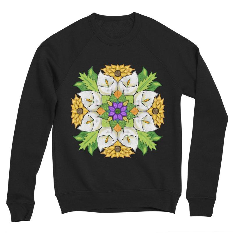 Florala Men's Sponge Fleece Sweatshirt by Colmena Ink's Shop