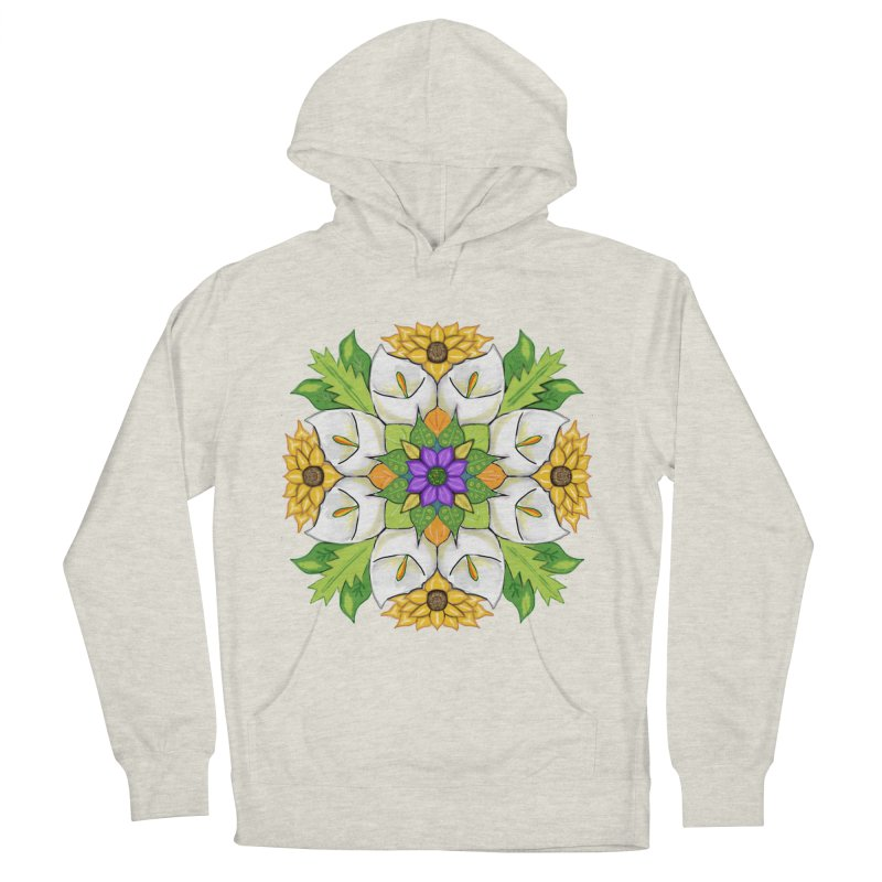 Florala Men's French Terry Pullover Hoody by Colmena Ink's Shop