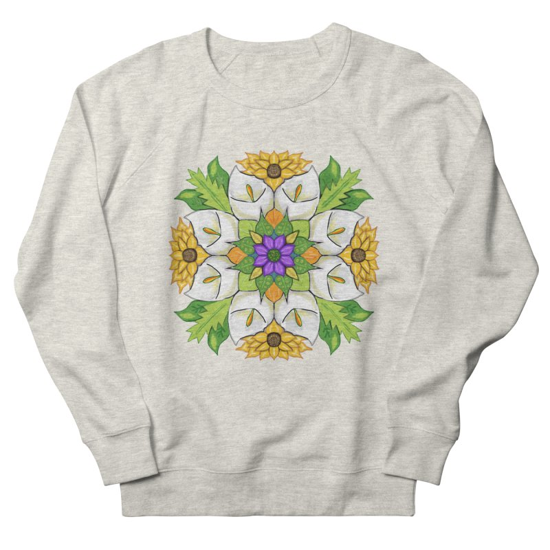 Florala Women's French Terry Sweatshirt by Colmena Ink's Shop