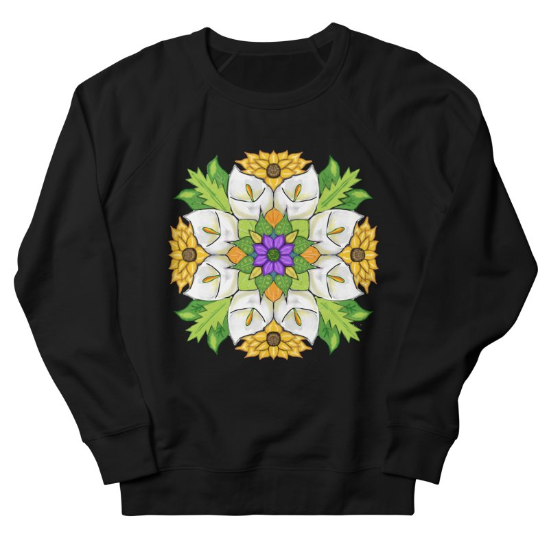 Florala Men's French Terry Sweatshirt by Colmena Ink's Shop