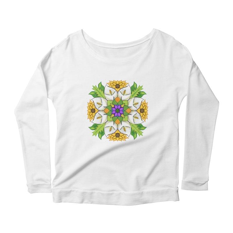 Florala Women's Scoop Neck Longsleeve T-Shirt by Colmena Ink's Shop