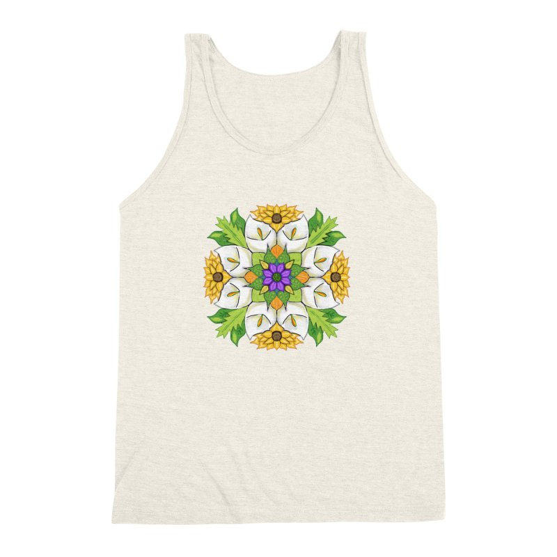 Florala Men's Triblend Tank by Colmena Ink's Shop
