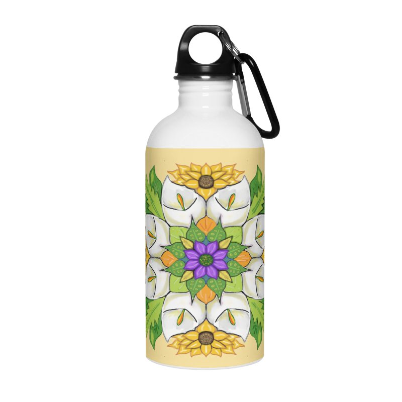 Florala Accessories Water Bottle by Colmena Ink's Shop