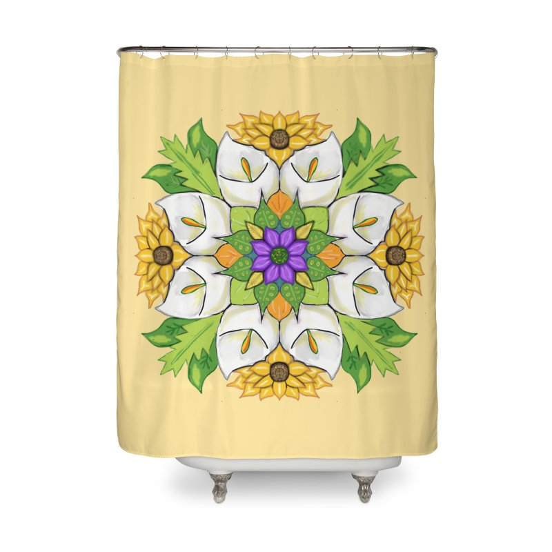 Florala Home Shower Curtain by Colmena Ink's Shop
