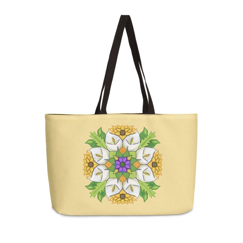 Florala Accessories Weekender Bag Bag by Colmena Ink's Shop