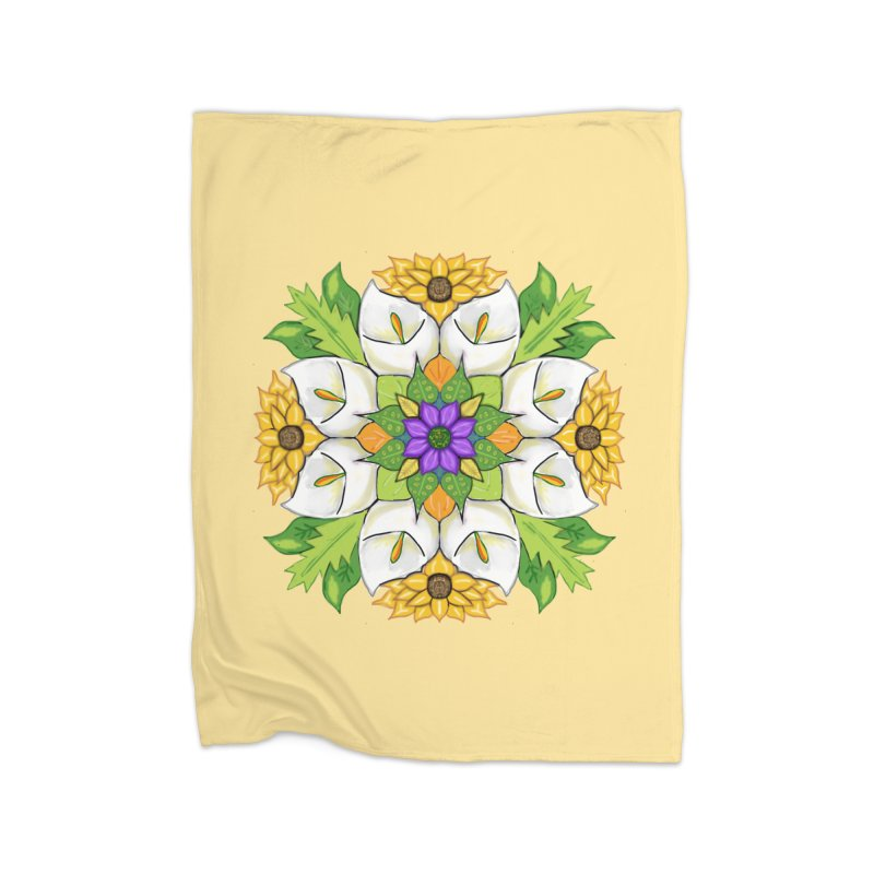 Florala Home Fleece Blanket Blanket by Colmena Ink's Shop