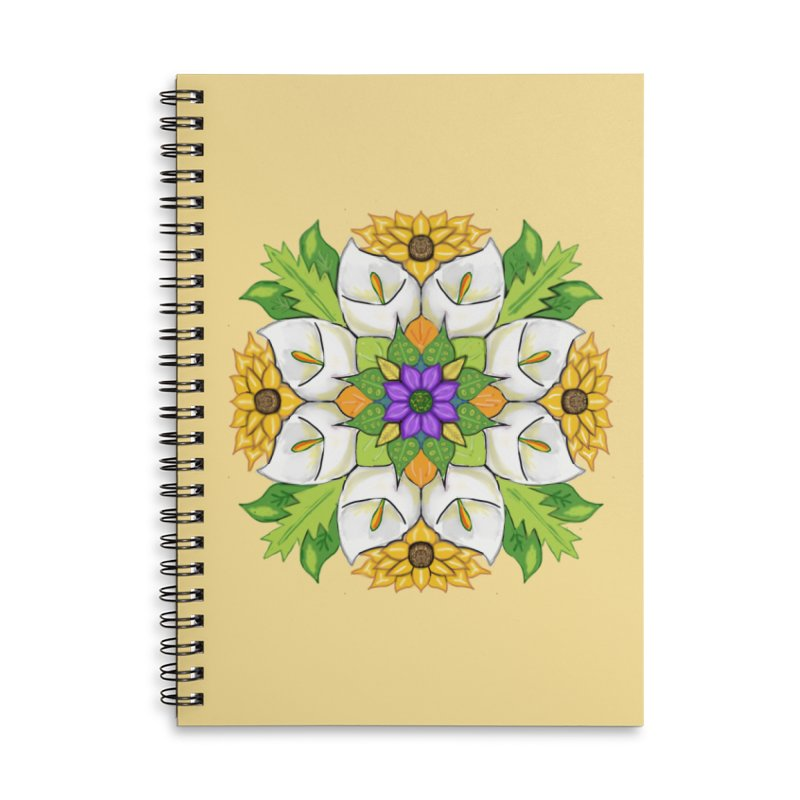 Florala Accessories Lined Spiral Notebook by Colmena Ink's Shop