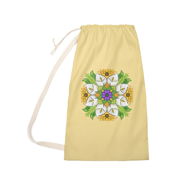Florala Accessories Laundry Bag Bag by Colmena Ink's Shop