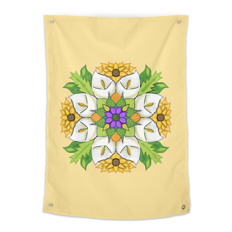 Florala Home Tapestry by Colmena Ink's Shop