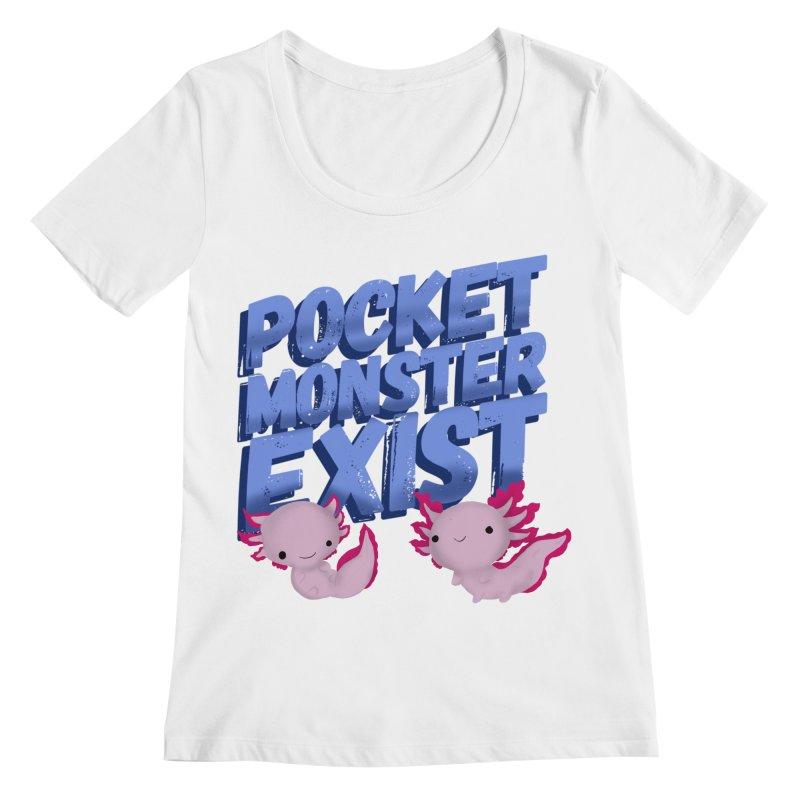 Pocket Monster Women's Regular Scoop Neck by Colmena Ink's Shop