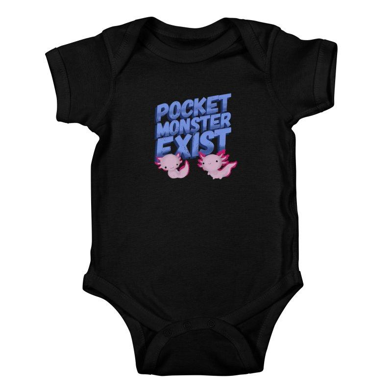 Pocket Monster Kids Baby Bodysuit by Colmena Ink's Shop