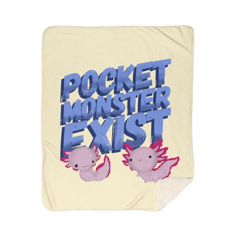 Pocket Monster Home Sherpa Blanket Blanket by Colmena Ink's Shop