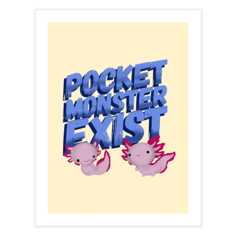 Pocket Monster Home Fine Art Print by Colmena Ink's Shop