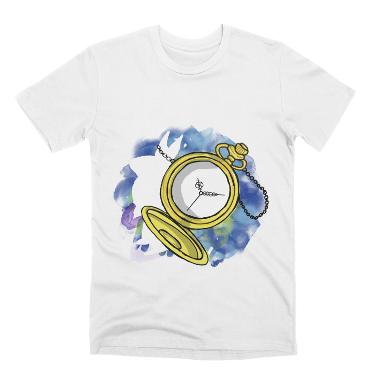 White rabbit time Men's Premium T-Shirt by Colmena Ink's Shop