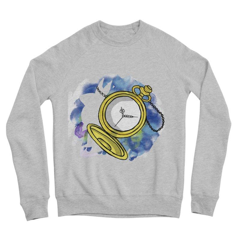 White rabbit time Men's Sponge Fleece Sweatshirt by Colmena Ink's Shop