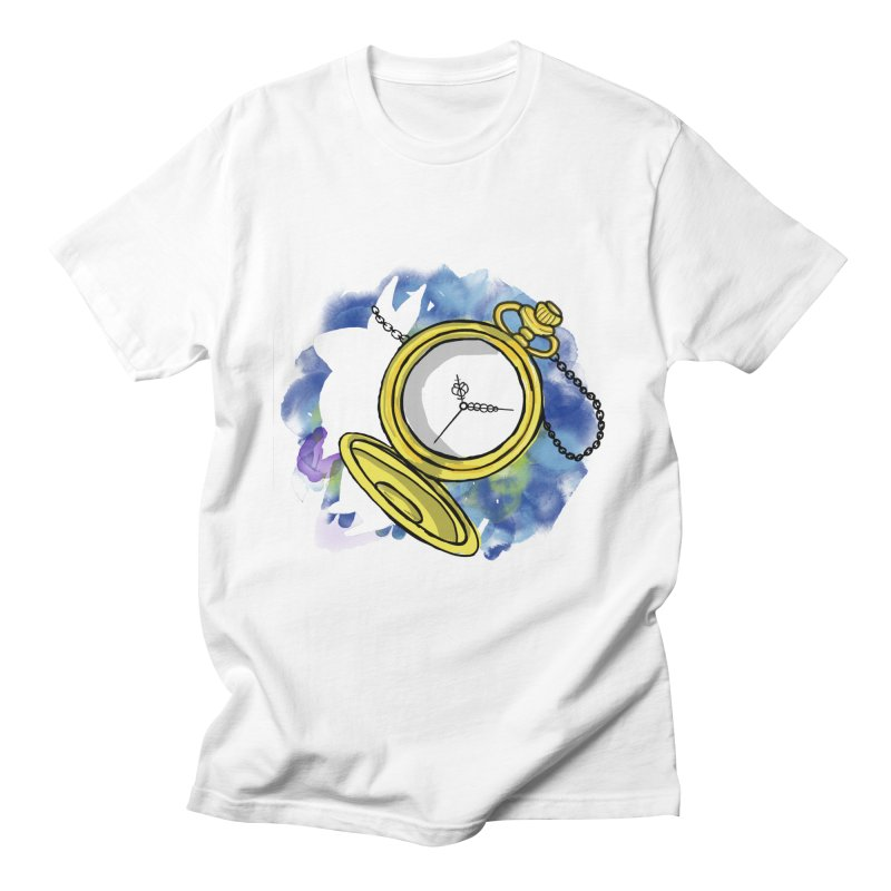 White rabbit time Women's Regular Unisex T-Shirt by Colmena Ink's Shop