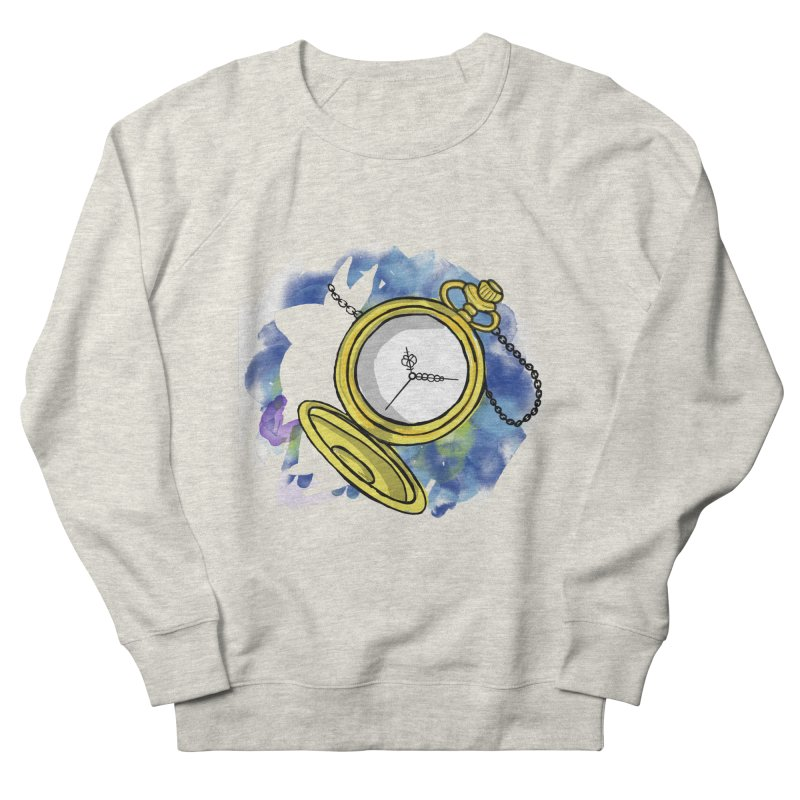 White rabbit time Men's French Terry Sweatshirt by Colmena Ink's Shop