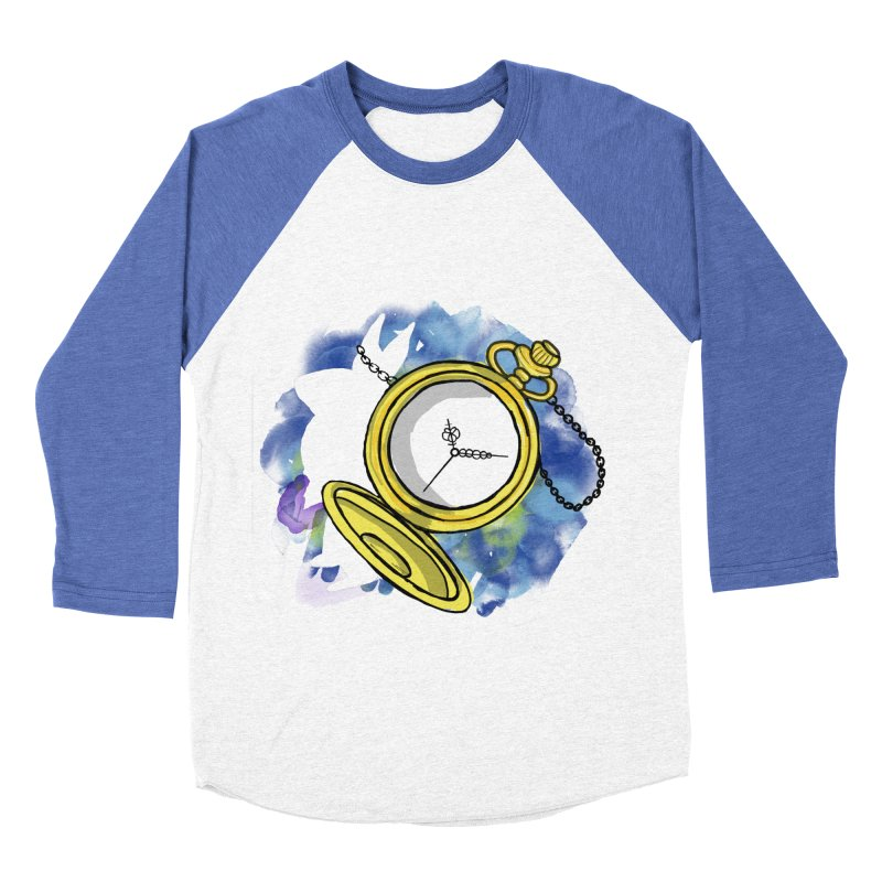 White rabbit time Men's Baseball Triblend Longsleeve T-Shirt by Colmena Ink's Shop