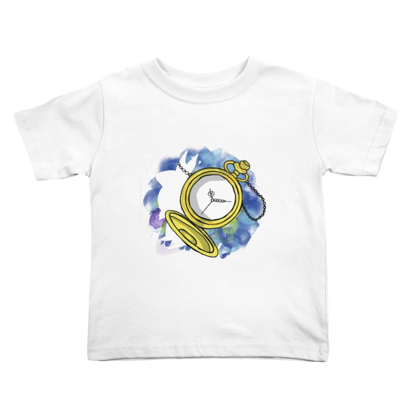 White rabbit time Kids Toddler T-Shirt by Colmena Ink's Shop