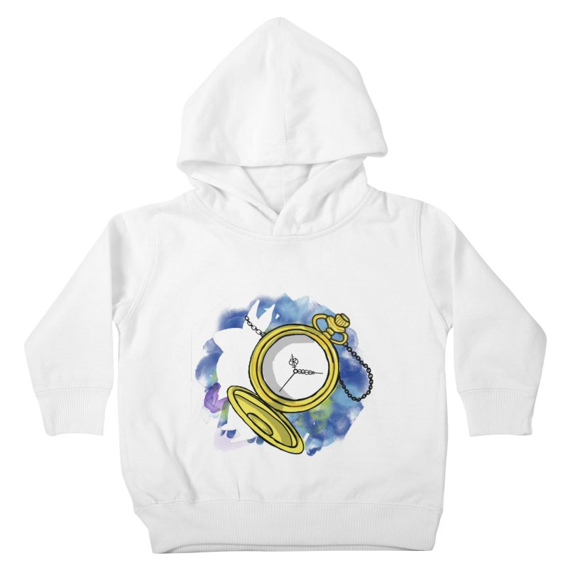 White rabbit time Kids Toddler Pullover Hoody by Colmena Ink's Shop
