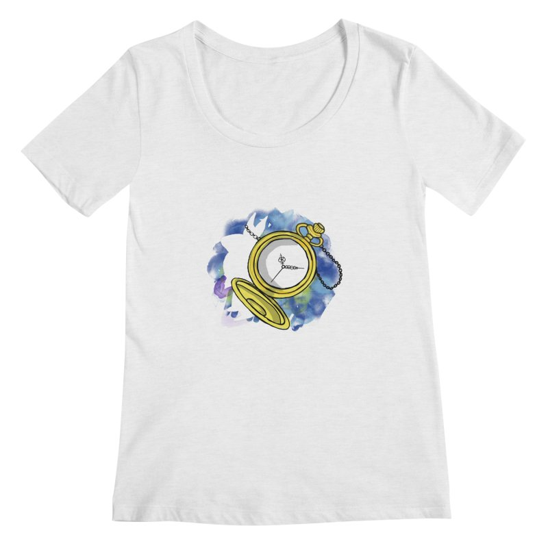 White rabbit time Women's Regular Scoop Neck by Colmena Ink's Shop