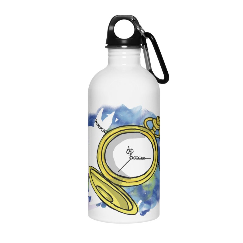 White rabbit time Accessories Water Bottle by Colmena Ink's Shop