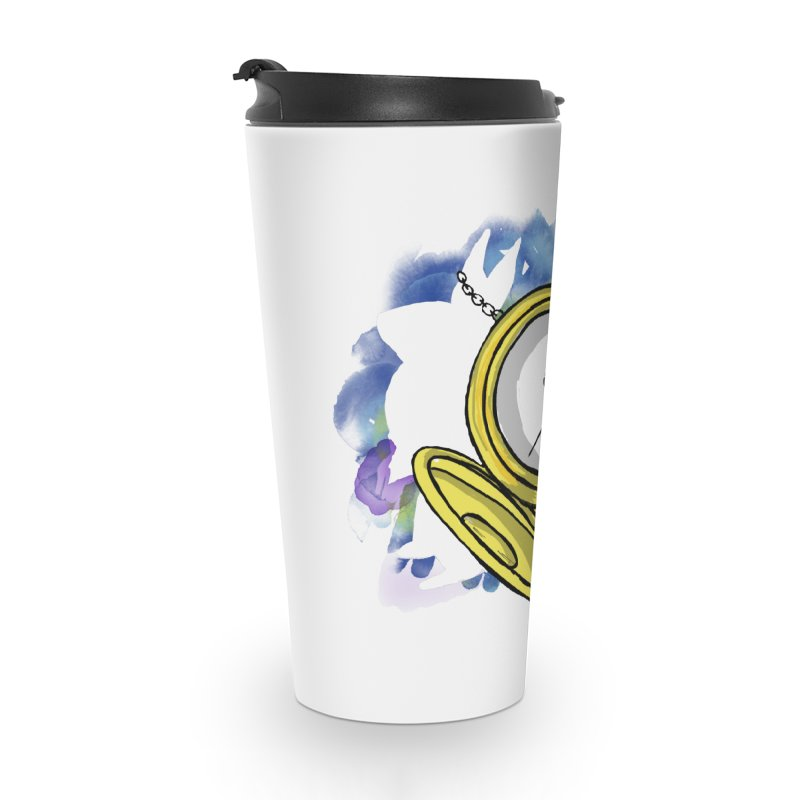 White rabbit time Accessories Travel Mug by Colmena Ink's Shop