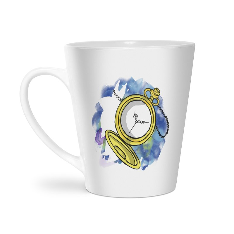 White rabbit time Accessories Latte Mug by Colmena Ink's Shop