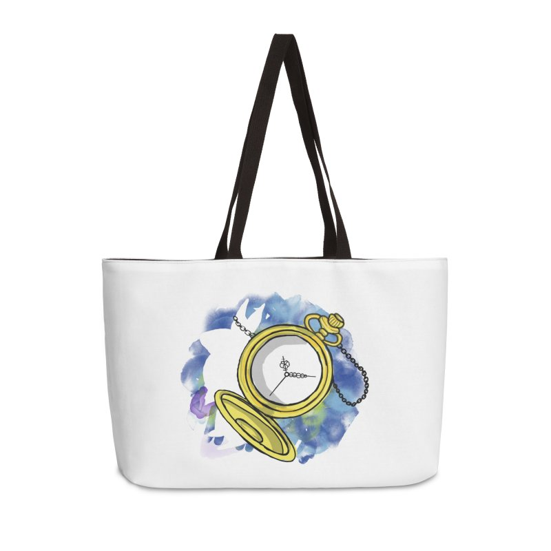 White rabbit time Accessories Weekender Bag Bag by Colmena Ink's Shop