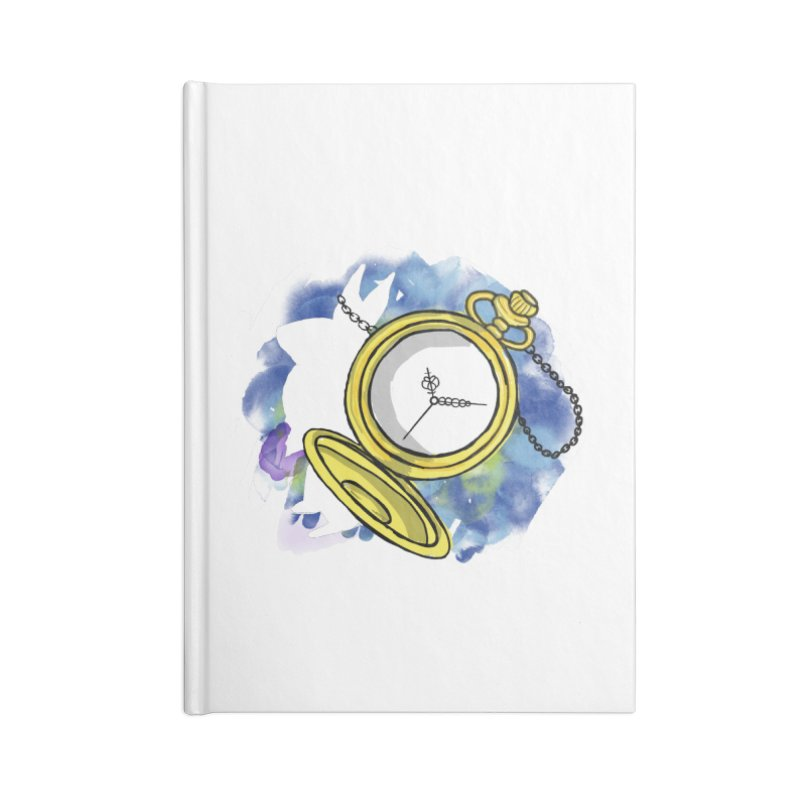 White rabbit time Accessories Blank Journal Notebook by Colmena Ink's Shop